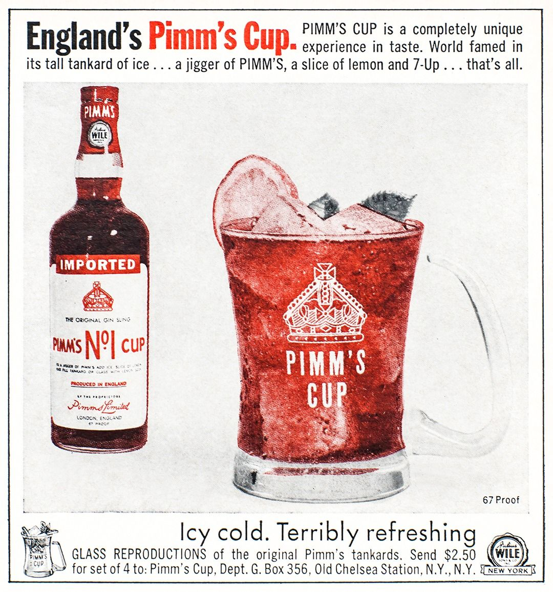 Pimms Advertisement Gourmet July 1965 Pimm S Pimms Cup Vintage Advertisements