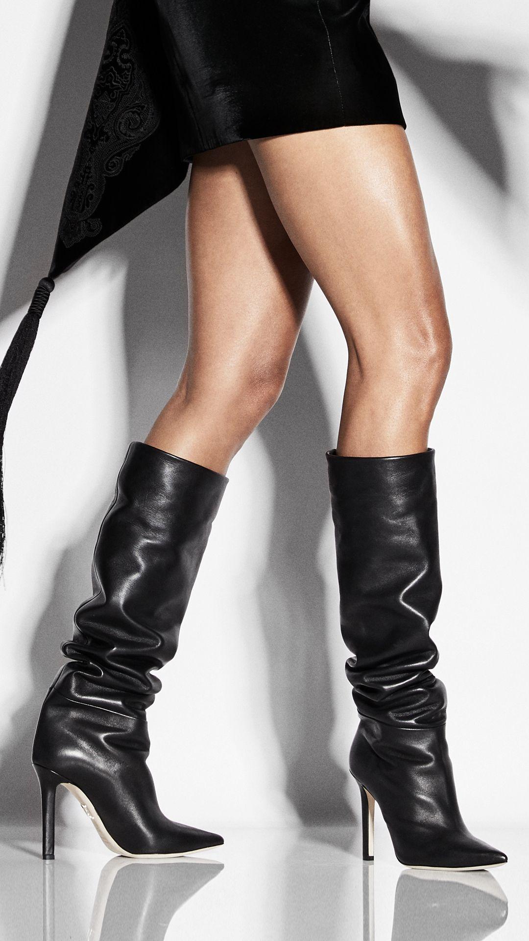 Icon- Knee High Black Nappa   Boots