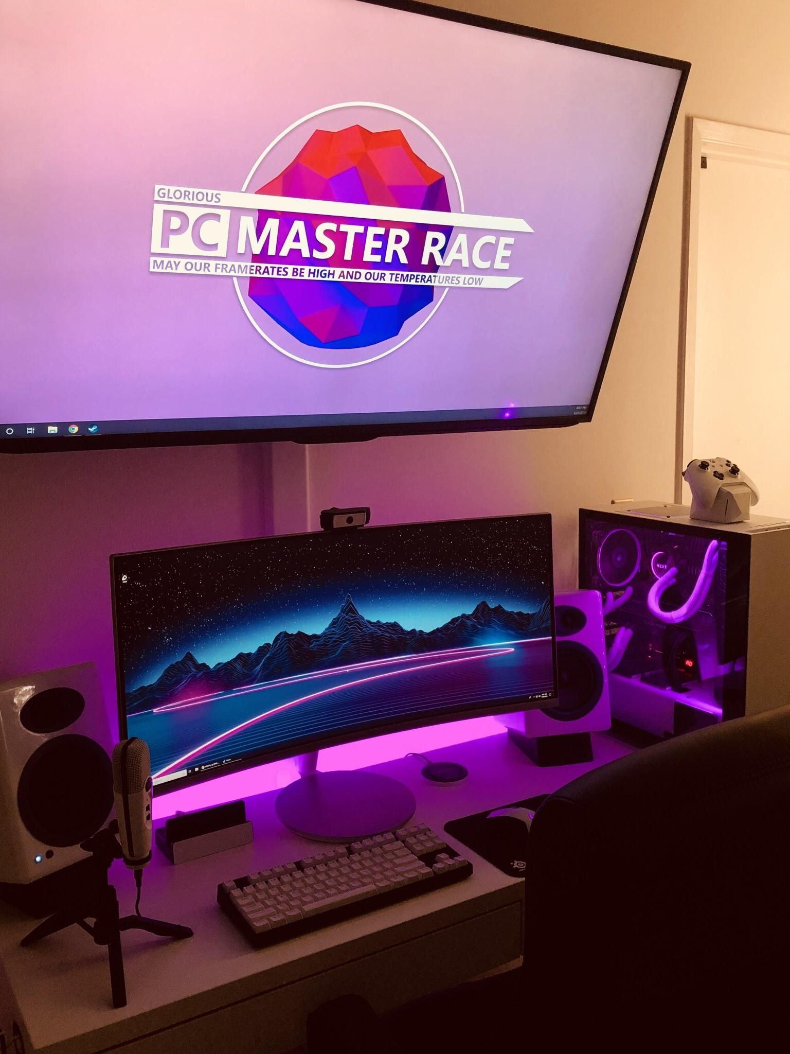 Pin By Ed Grovenor On Manly Office Space | Pinterest | Gaming Setup, PC And  Pc Setup