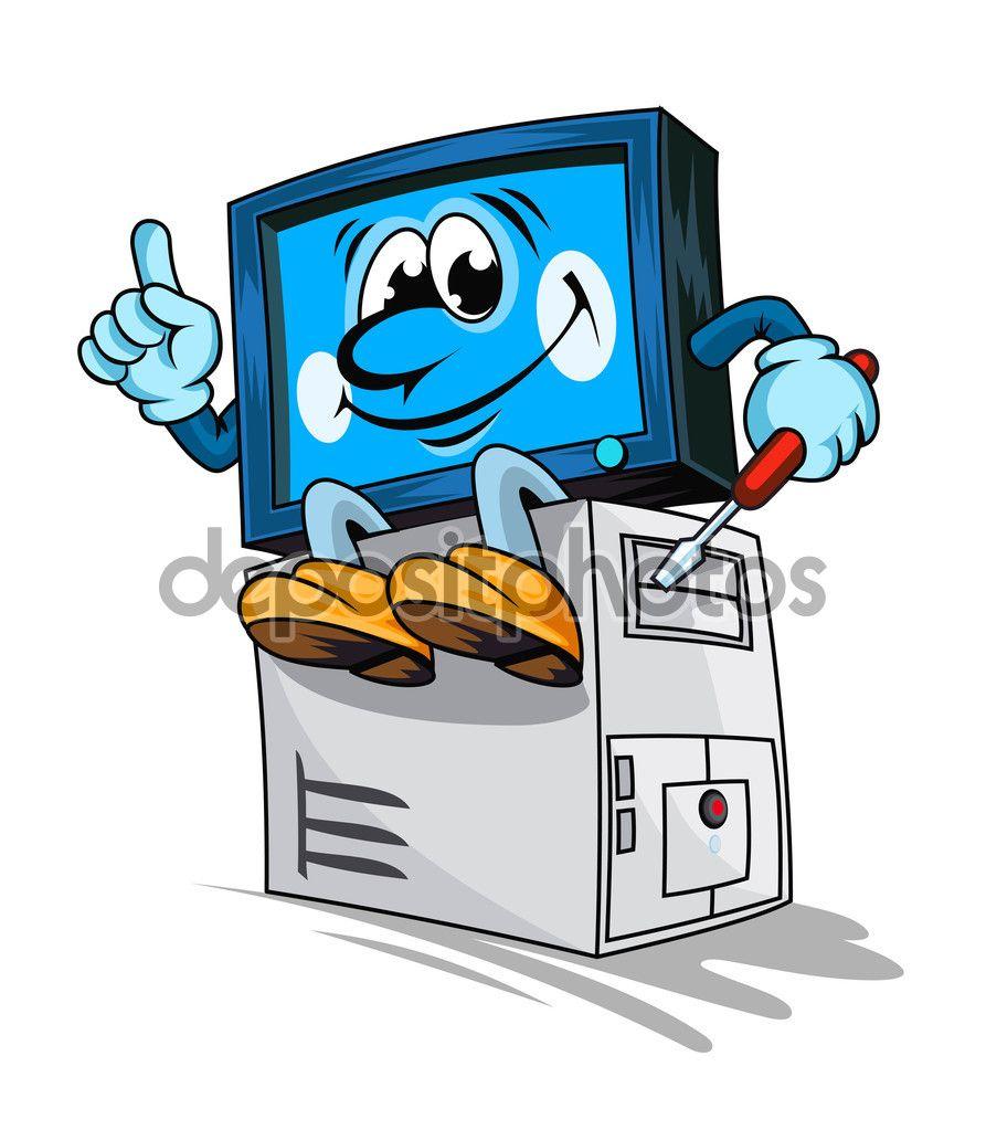 servicio de reparacin de computadoras  Ilustracin de stock
