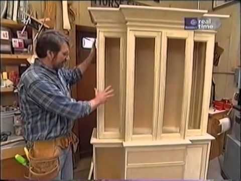 new yankee workshop kitchen cabinets norm shows you how to build a breakfront cabinet 7106