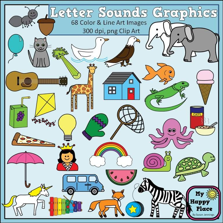 Alphabet Sounds Clip Art Phonics Graphics For Commercial Use