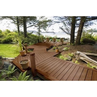 Moistureshield Vantage 2 In X 4 In X 12 Ft Walnut Composite Solid Decking Board 4 Pack 1100279 The Home Depot Composite Decking Composite Wood Deck Deck