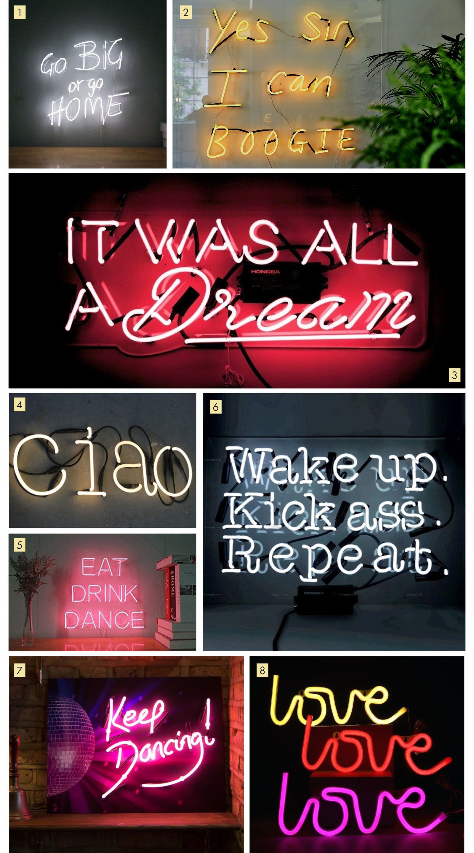 Neon Signs to Light Up the Party | hush | Light Up Signs in