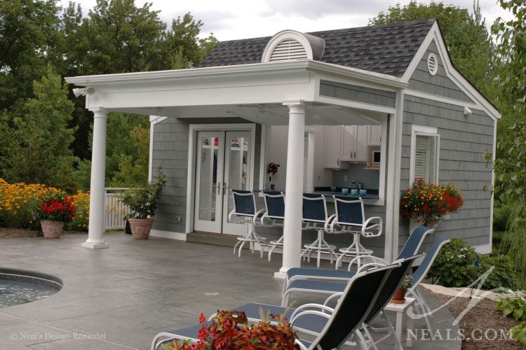 Pool House Cabana Plans: Poolside Cabanna Plans