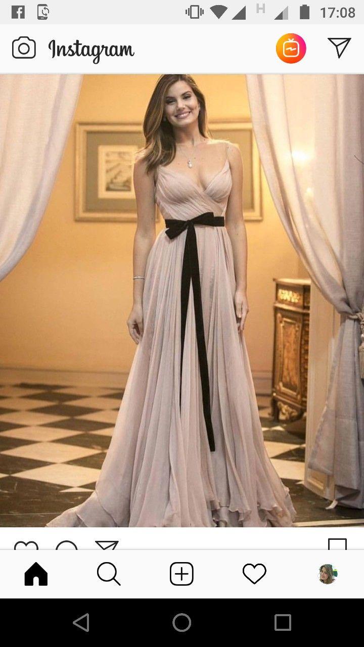 Vestido de Festa Sereia Dourado com Marsala Glamour - Fino