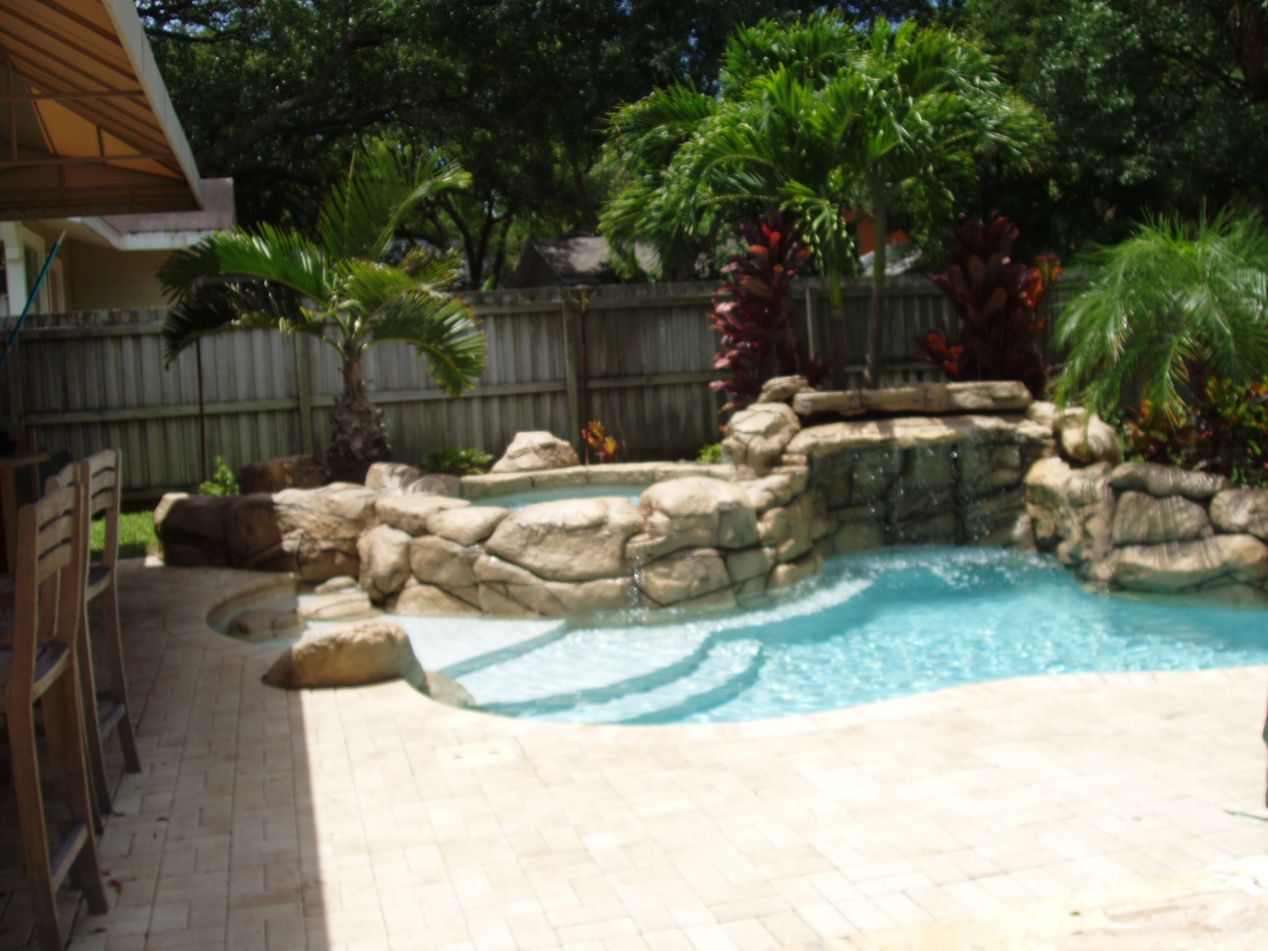 Mini Pools For Small Backyards Rock Pools
