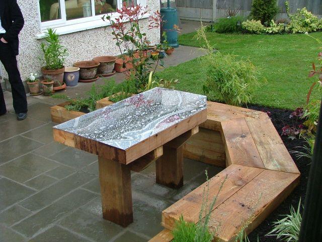 built in garden seating High back Indoor outdoor garden ideas