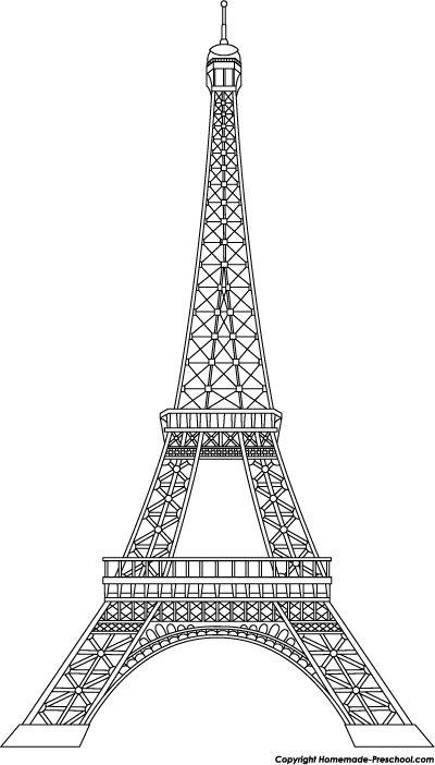 Image From Http Www Homemade Preschool Com Image Files Eiffel Tower Black Png Eyfel Kulesi Anitlar Tablolar