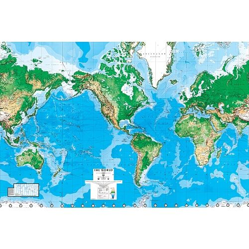 World Map Ft X Ft Wall Mural Environmental Graphics Toys R - Toys r us wall maps