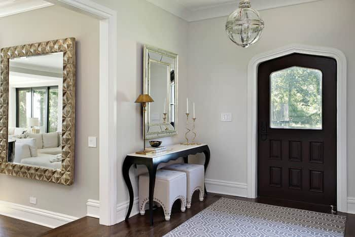 21 Feng Shui Mirror Placement Rules And Tips For Your Home With Images Benjamin Moore Classic Gray Console Table Styling Feng Shui Mirrors