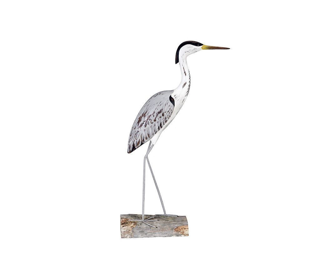 Carved Herons Archipelago Wooden Birds Hand Carved Heron Standing