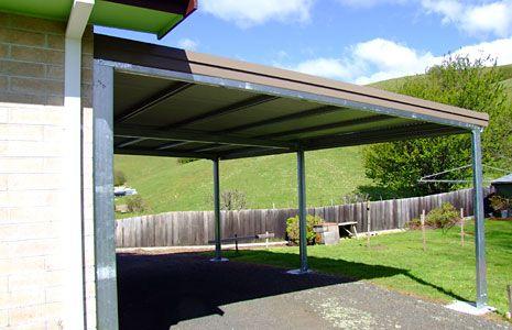 Sidach Sheds Built Tough Flat Roof Carport Garage Pinterest
