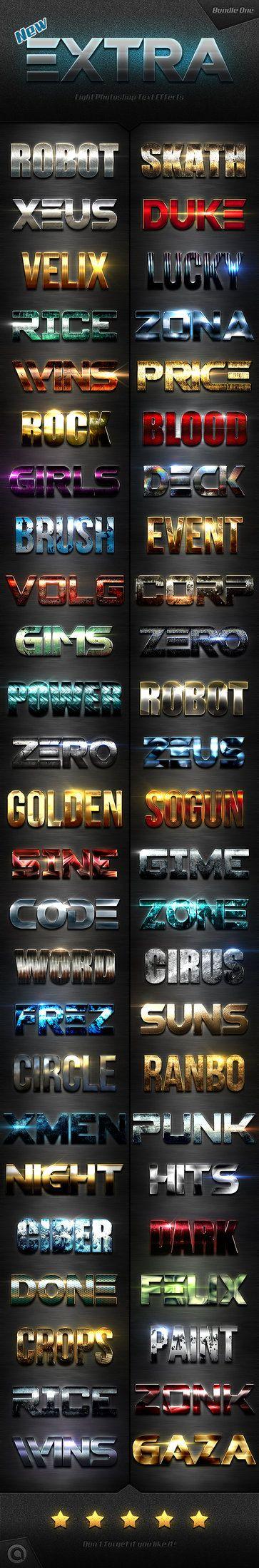 DOWNLOAD: goo gl/IEILDoNew Extra Light Text Effects Bundle
