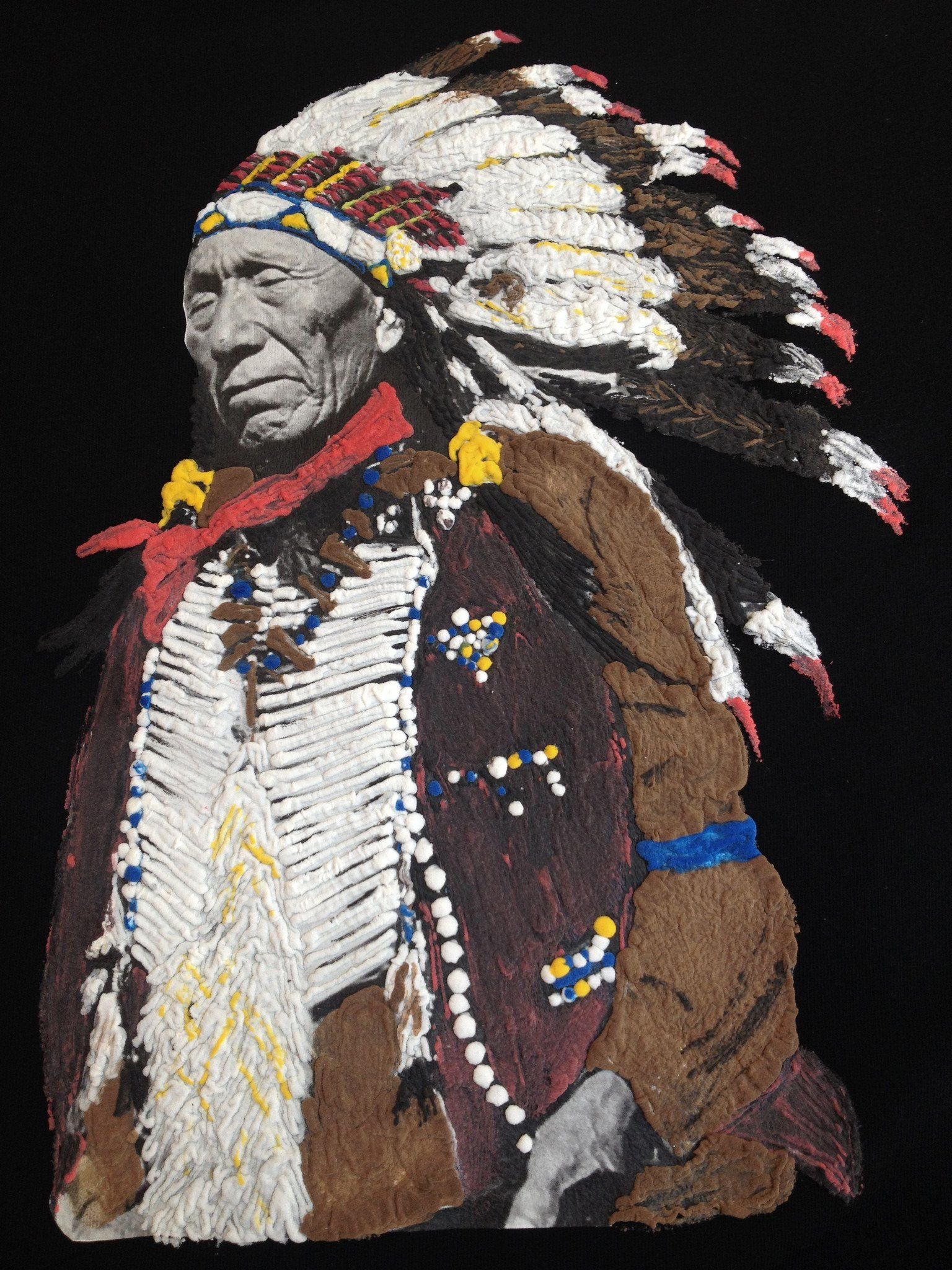 Indian Chief T Shirt Native American Painting