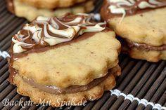 Taler mit Marzipan- Schoko- Füllung #donutcake