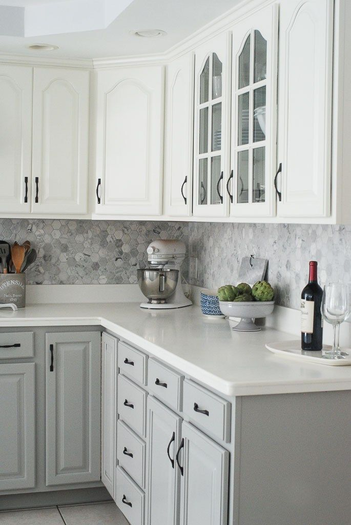 Gray And White Kitchen Before And After Makeover  Kitchens Simple Gray And White Kitchen Designs Inspiration Design