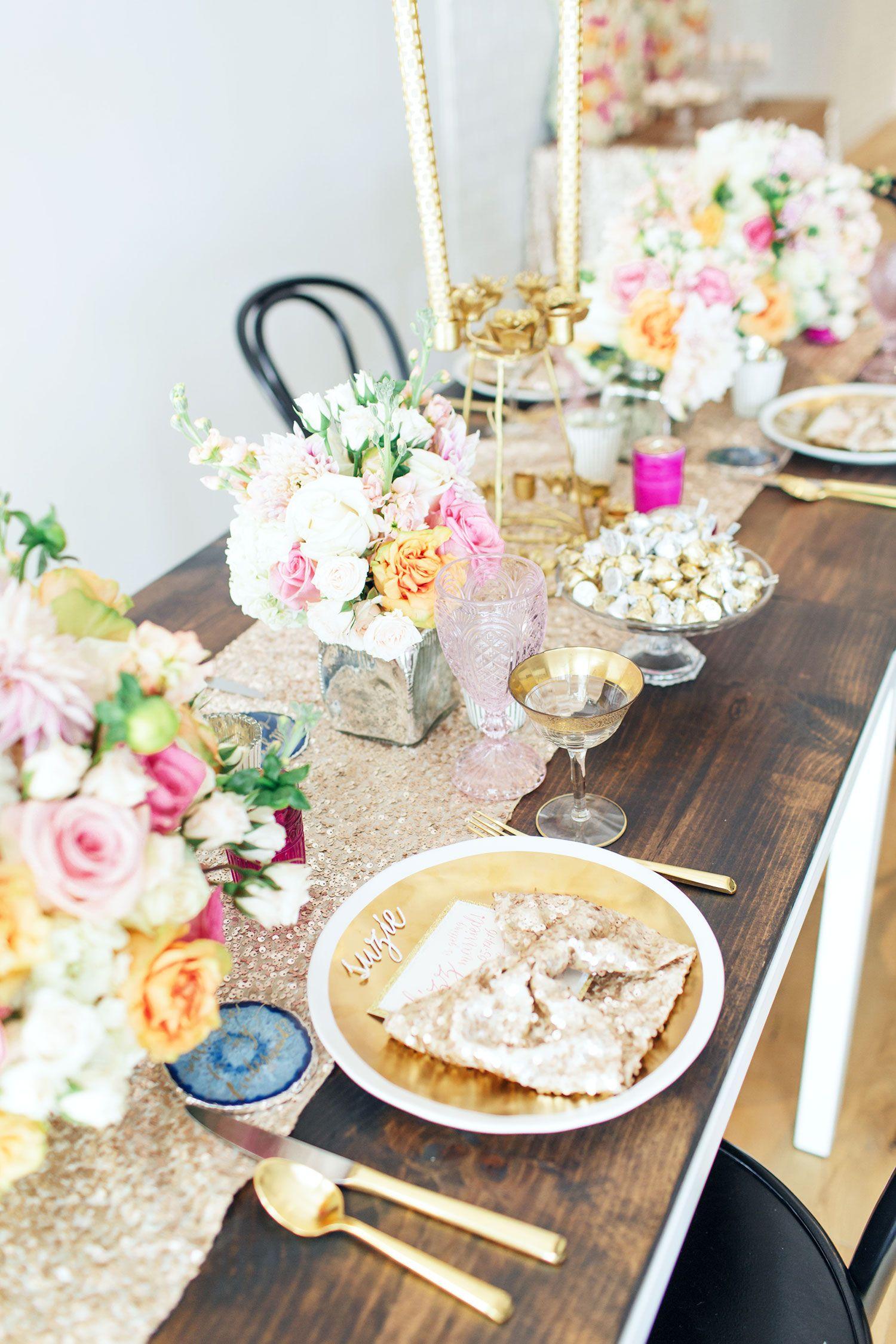 A Glamorous Bridesmaids' Brunch Rue Bridesmaid brunch