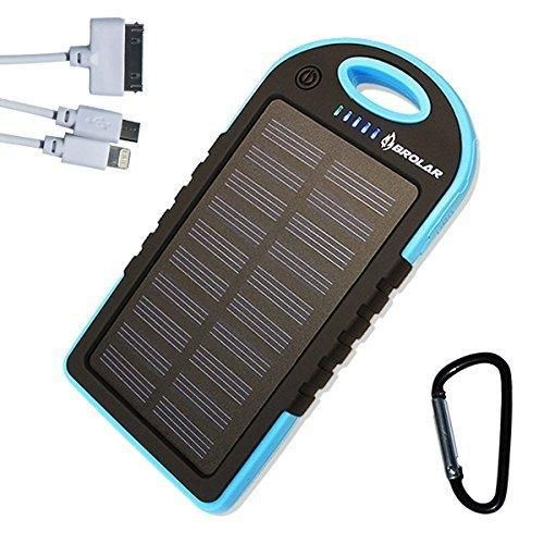 Brolar Solar Charger 5000mah Portable Power Bank For Iphone 6 Ipad Android Cell Phone Tablet Waterproo Smartphone Charger Unlocked Cell Phones Phone Charger