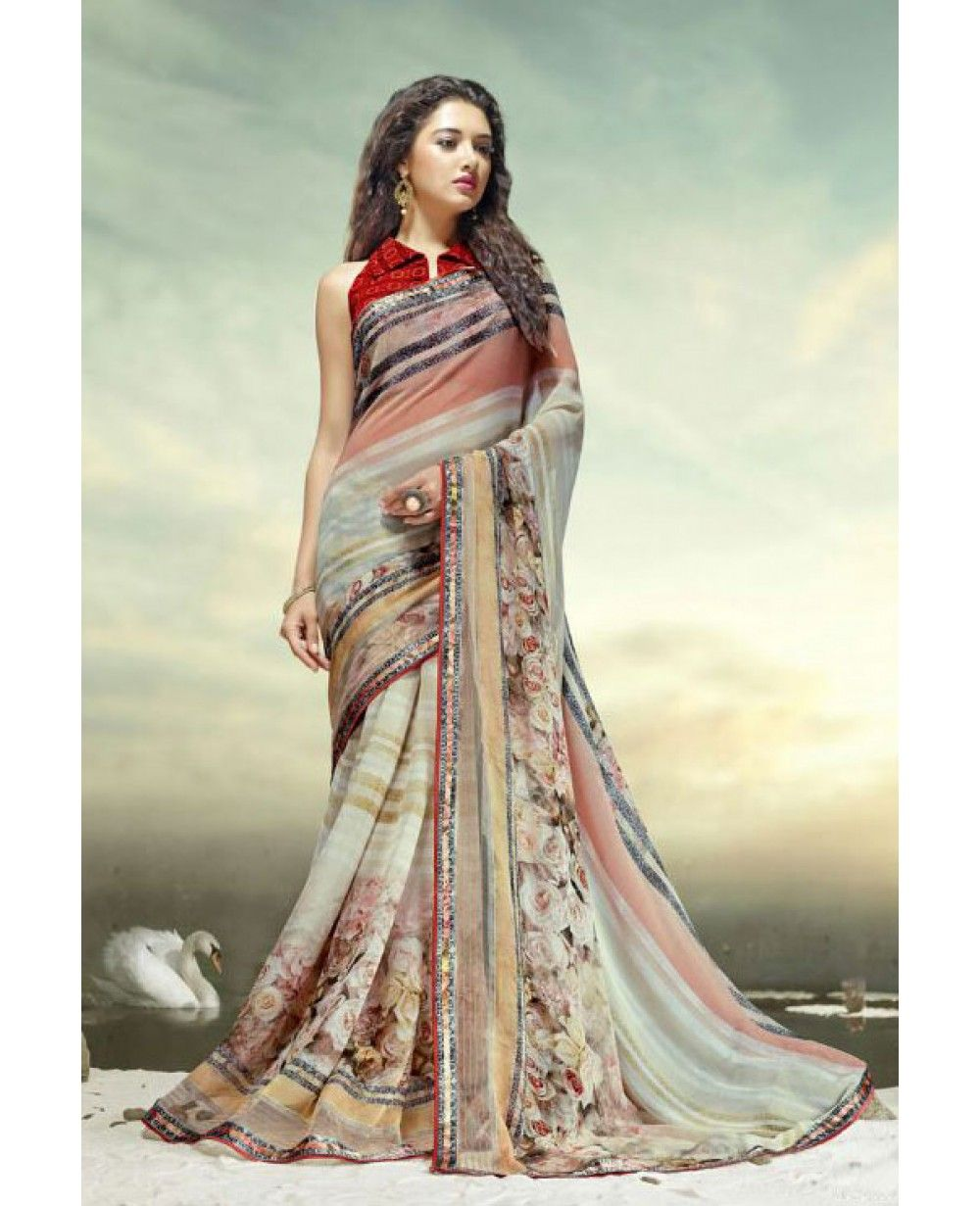 Fabrics georgette eternal beauties in saree pinterest saree