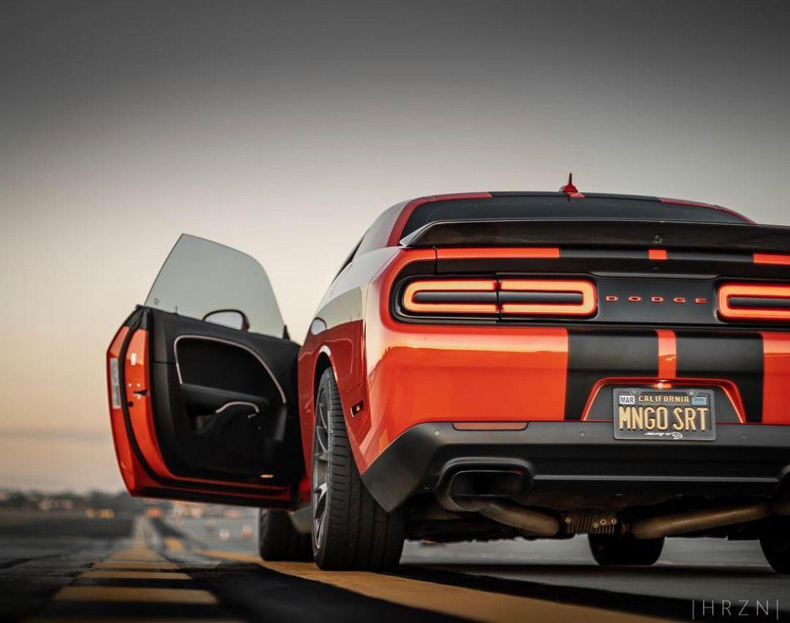 Go Mango Dodge Challenger Srt Hellcat On Taillight Tuesday Dodge Challenger Srt Hellcat Challenger Srt Hellcat Dodge Challenger Srt