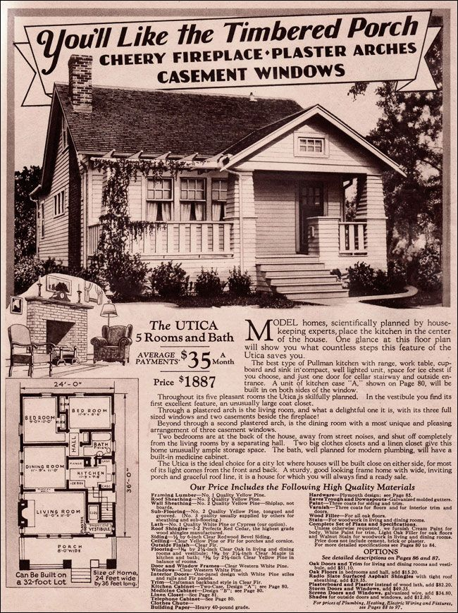 1920s craftsman bungalow montgomery ward 1930 modern for Home architecture 1930s