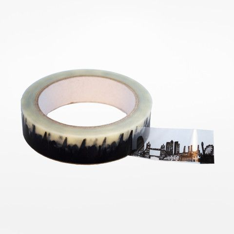 Washi tape printed with London's skyline!