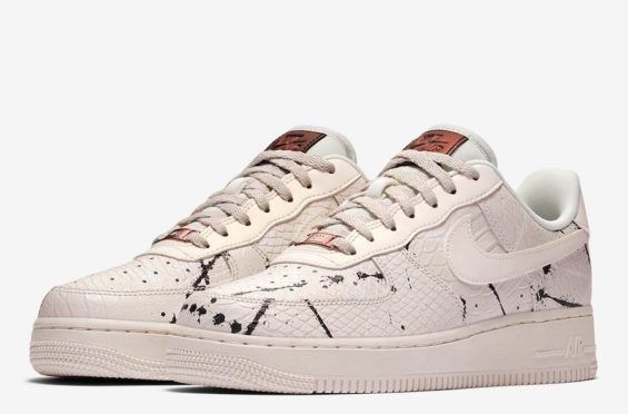 ffe5e64dbce91 Cream Snakeskin Leather Covers This Nike Air Force 1 Spring is here and  Summer is right