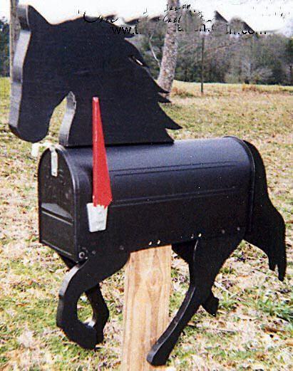 Amerikanischer Briefkasten mailbox makeover flags on a stick pferde