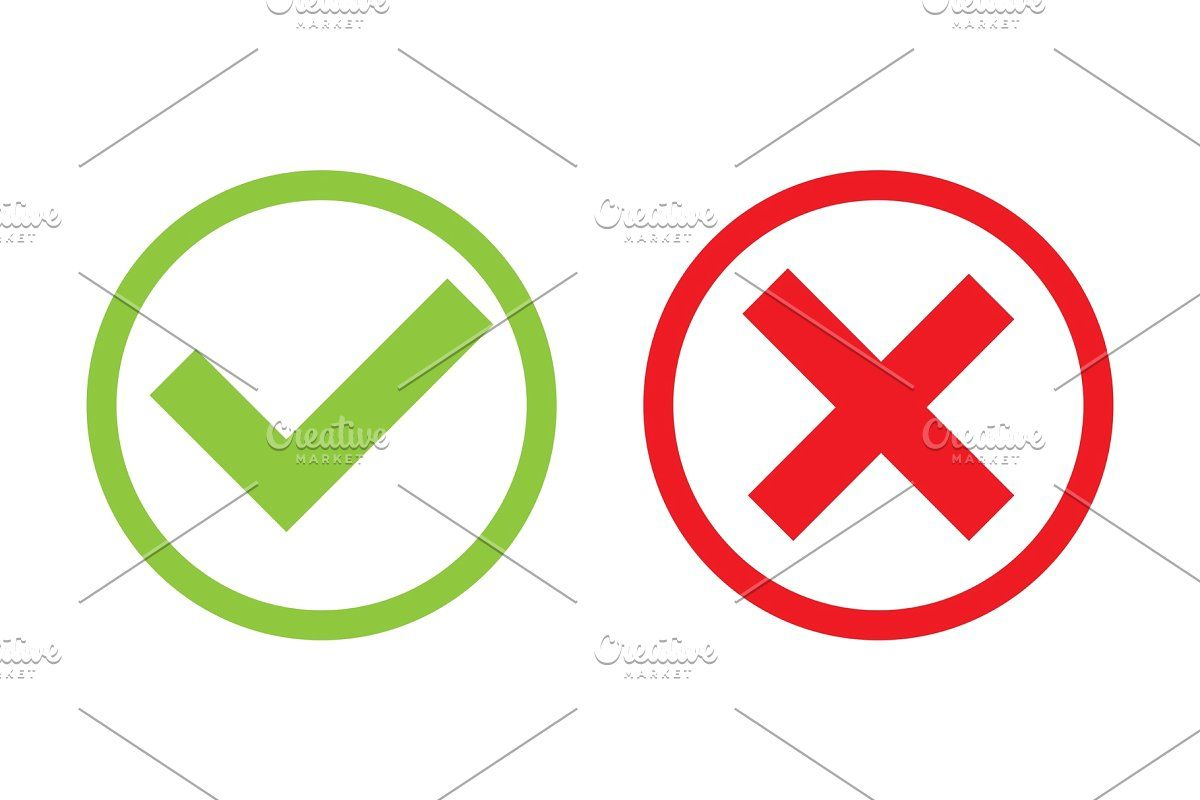 Green Tick Red Cross Do S Don Ts Red Cross Red Sign Sign Design