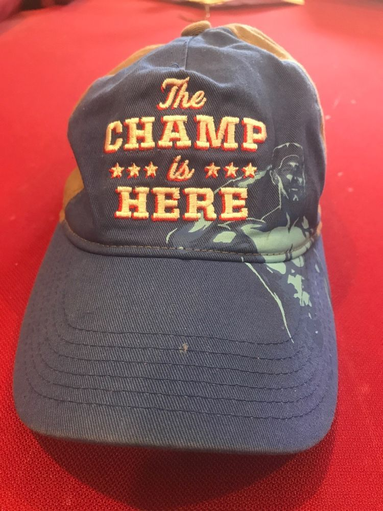 uk availability d97b8 89109 ... clearance john cena the champ is here wwe wwf slouch dad hat cap  strapback adjustable wrestling