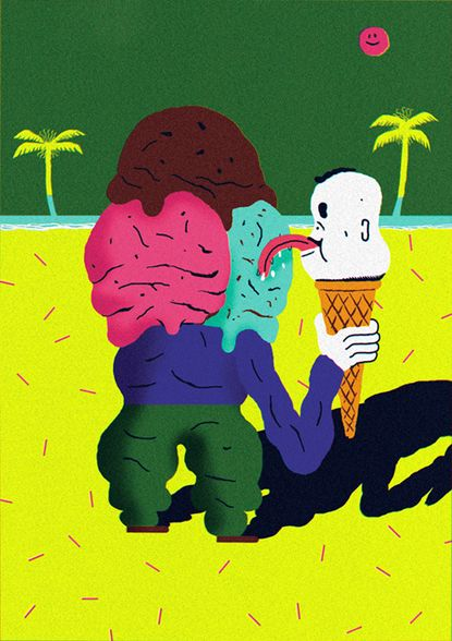 | Lick | Ice Cream | Weird |