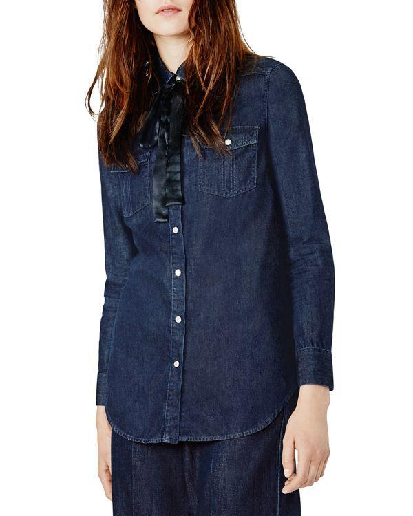 DENIM - Denim shirts Maje Huge Surprise Sale Online gOCdVgLLRt