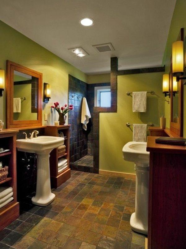 badezimmer tolle wandgestaltung wohnideen | Bad | Pinterest ...