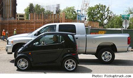 Smart Car Vs Lifted Dodge Ram 2500 Truck Wowo