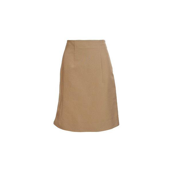 Straight Skirt ($185) ❤ liked on Polyvore featuring skirts, marni, saias, straight skirt, marni skirt, beige skirt and summer skirts