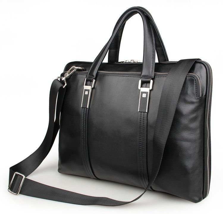 Black Leather Briefcase (Ships from Amazon)
