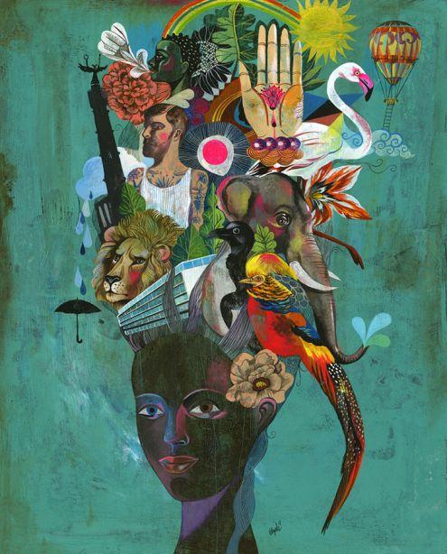 Olaf Hajek art | My world | Pinterest | Figuras humanas, Mi corazón ...