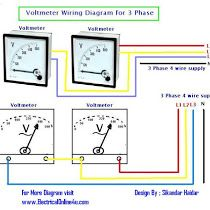 How To Wire Voltmeter In 3 Phase Wiring Electrical Circuit