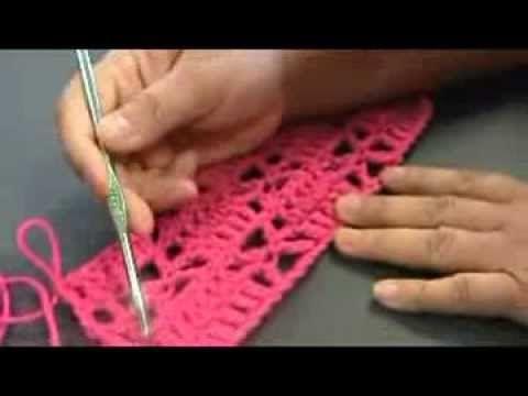 Stitch #001 Diamond Pattern using Chain and Double Crochet