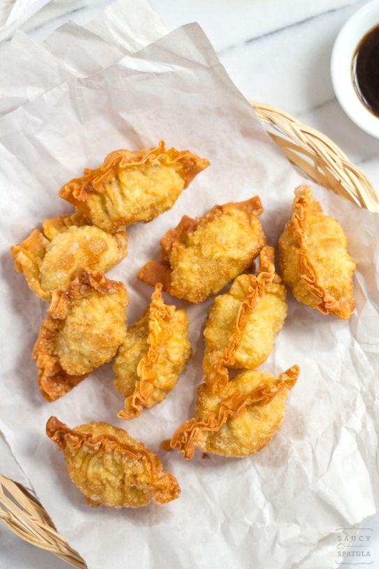 Fried Shrimp Dumplings 炸蝦角 Saucy Spatula The Man With The Golden Tongs Shrimp Dumplings Fried Shrimp Dim Sum Recipes