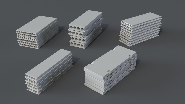 Construction Pack- 66 pieces | FlippedNormals    #3d #buy #cg #model #props #consctuction #metall #3ds max #blender #3d asset #basemesh #kit bash