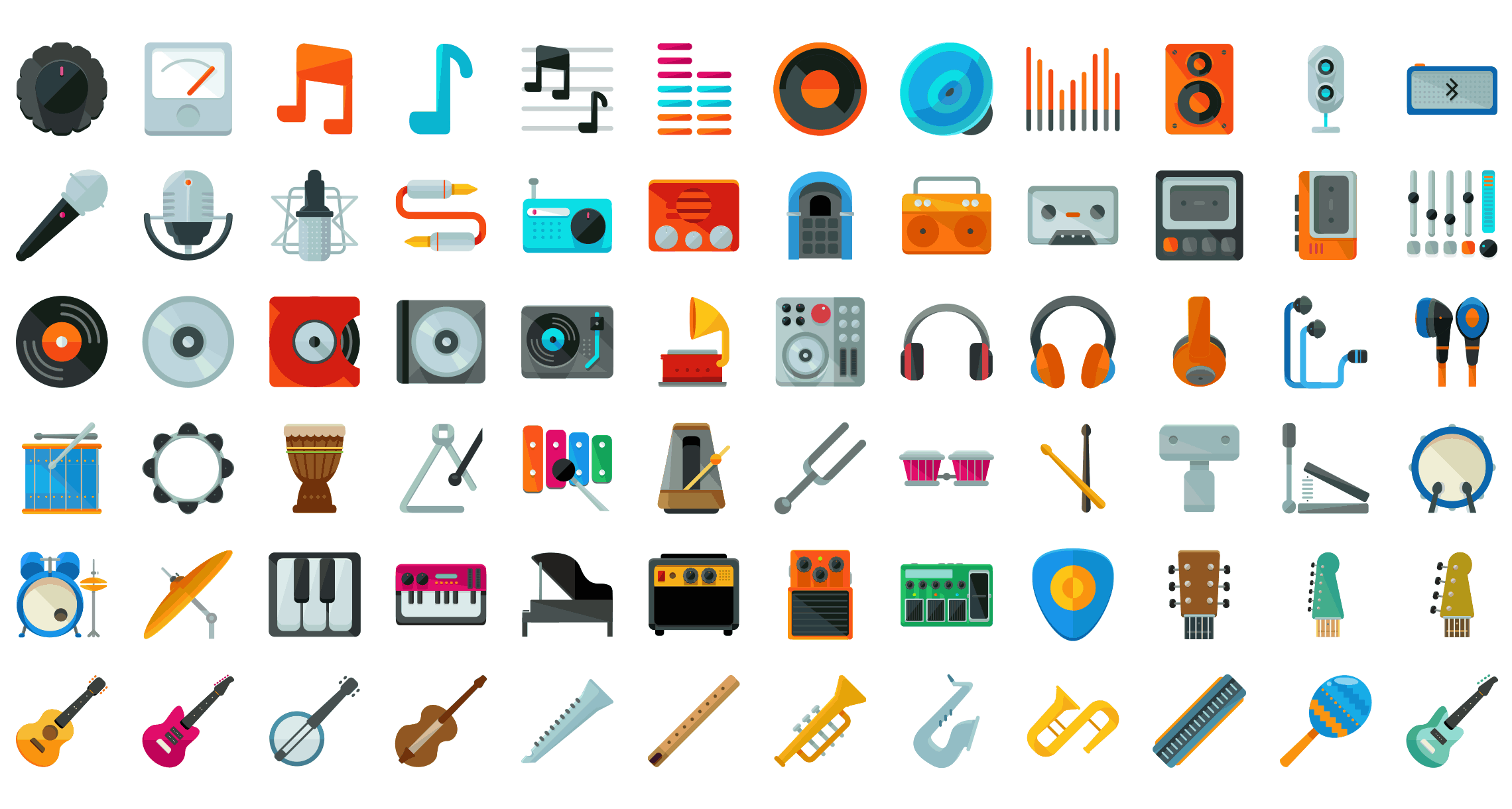 Flat Icons Pack Icon pack, Icon set, Sketches