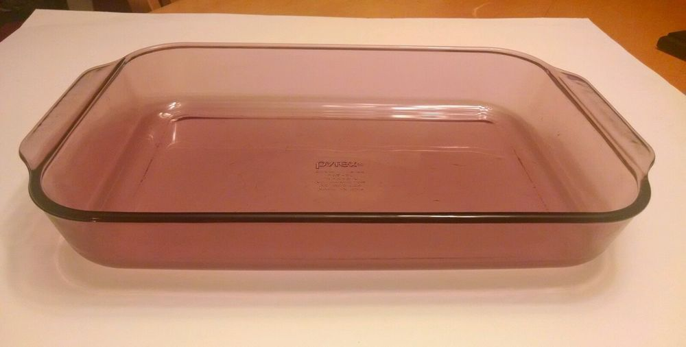 Pyrex Cranberry 233 R 3 Qt Casserole Baking Dish 13 X 9 X 2 In