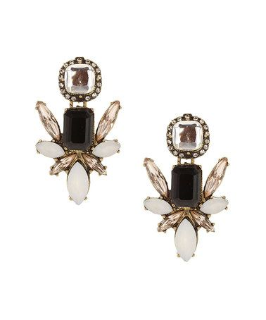 Look what I found on #zulily! Black & White Crystal Cluster Earrings by Olivia Welles Jewelry #zulilyfinds