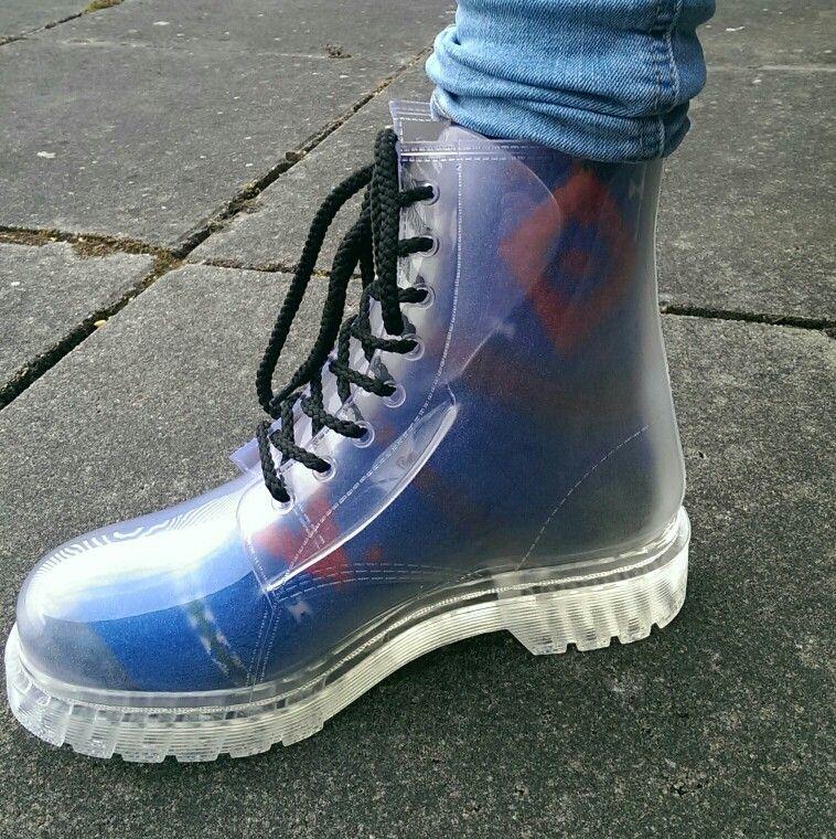 d5efcaf1c36 Transparent boots dr martens dupes with awesome socks