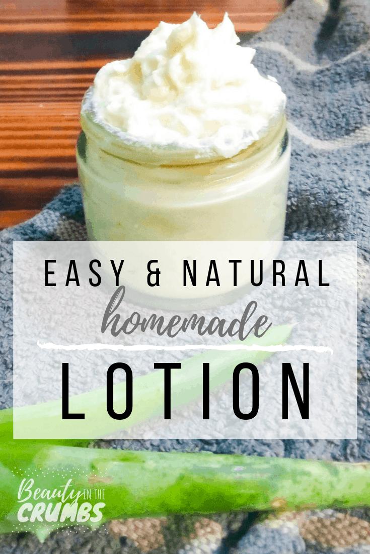 Luxurious Easy Homemade Lotion: no-heat method!