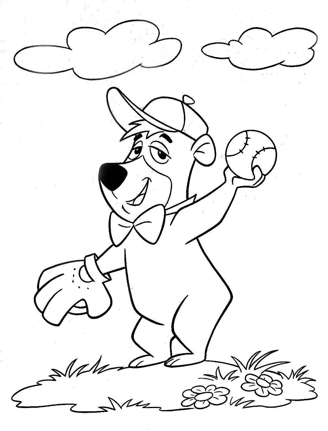 Yogi Bear Boo Boo Bear Coloring Pages Free For Kids Printable Download Bear Coloring Pages Coloring Pages Detailed Coloring Pages