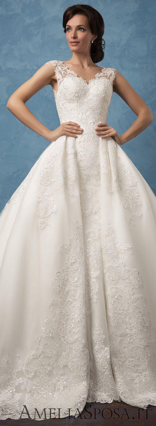 Blue plus size wedding dresses  Amelia Sposa  Wedding Dresses  Royal Blue Collection