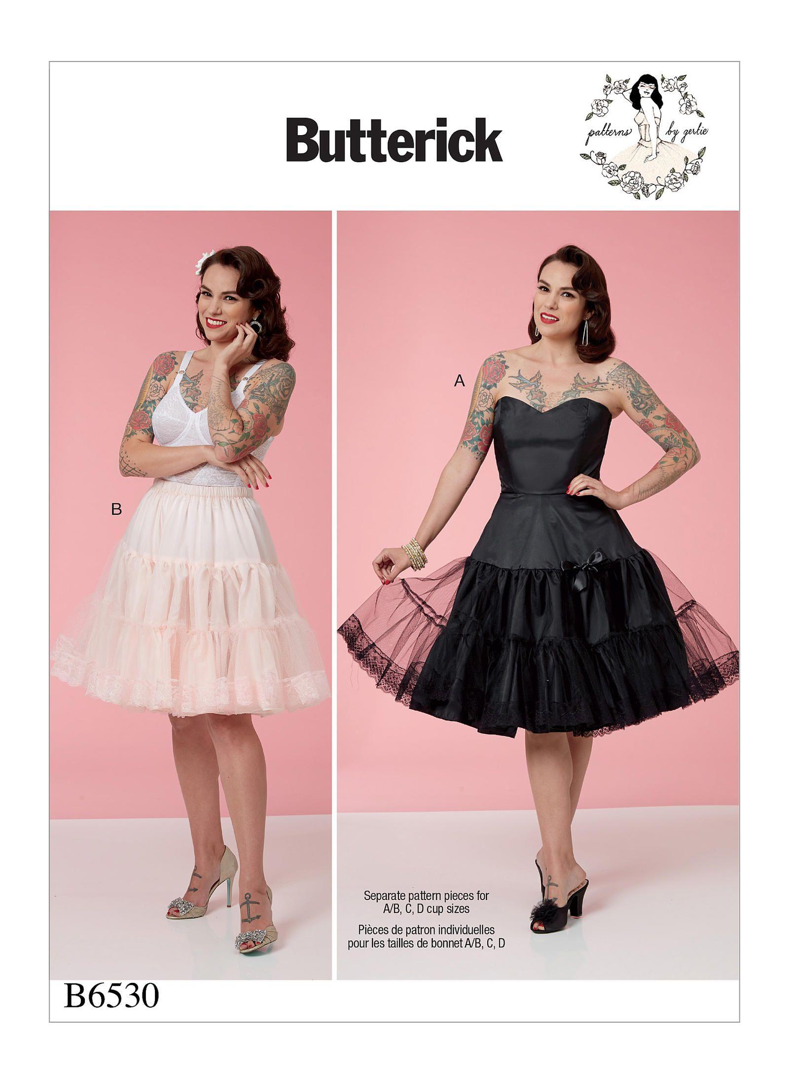 Encantador Patrones De Costura Del Vestido De Boda Butterick ...